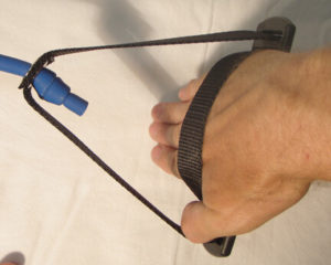 lane gainer blue dryland band with handle hand