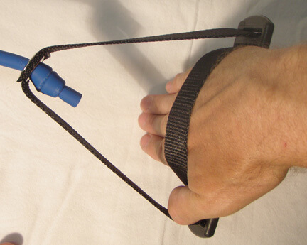 lane gainer blue band with handle hand