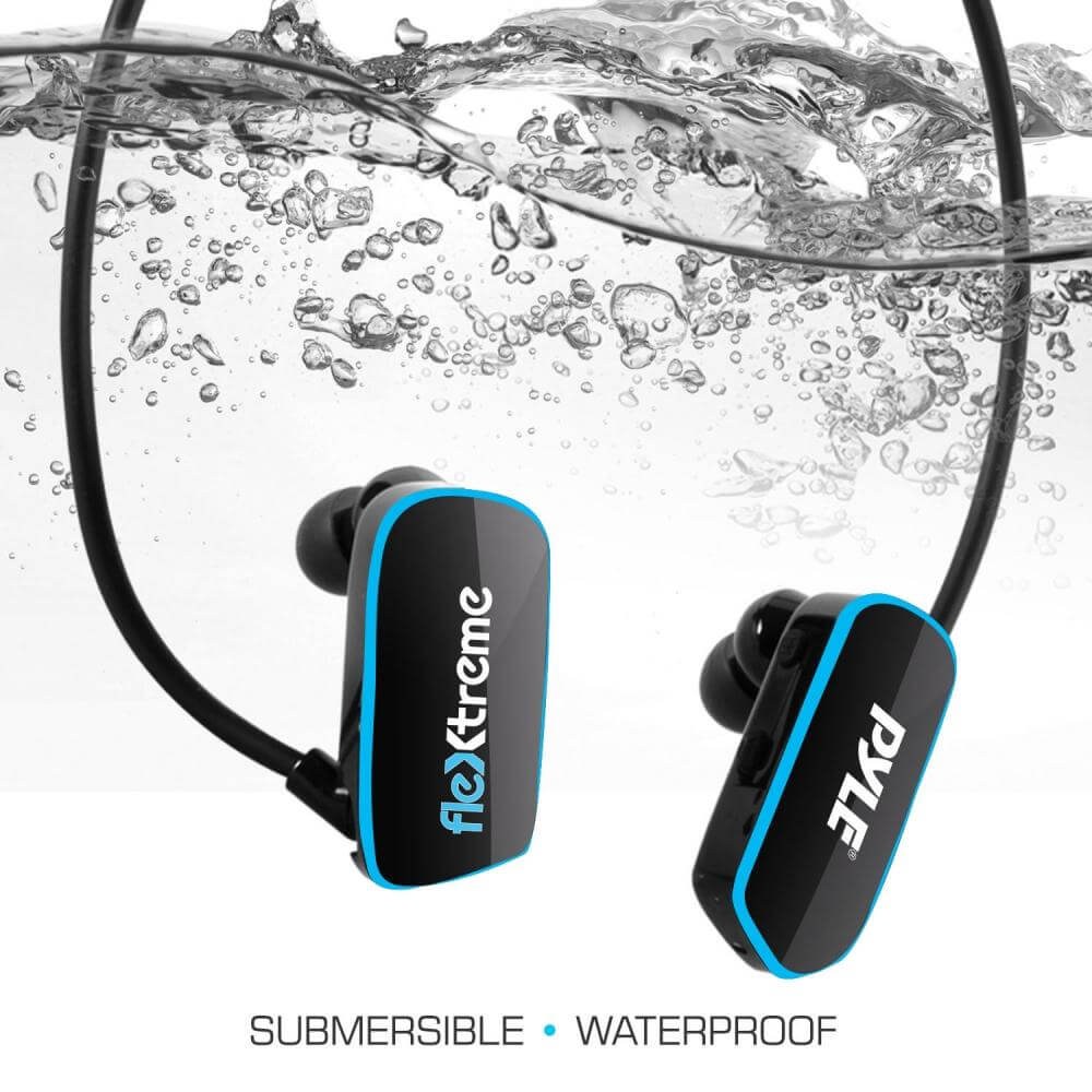 Pyle Flextreme Waterproof MP3 Headphones Underwater