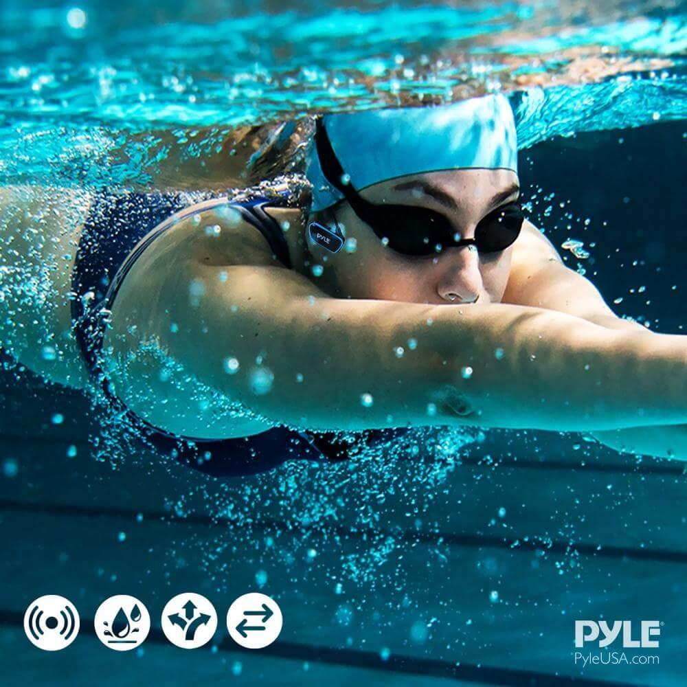 Pyle Flextreme Waterproof MP3 Headphones Underwater Swimming