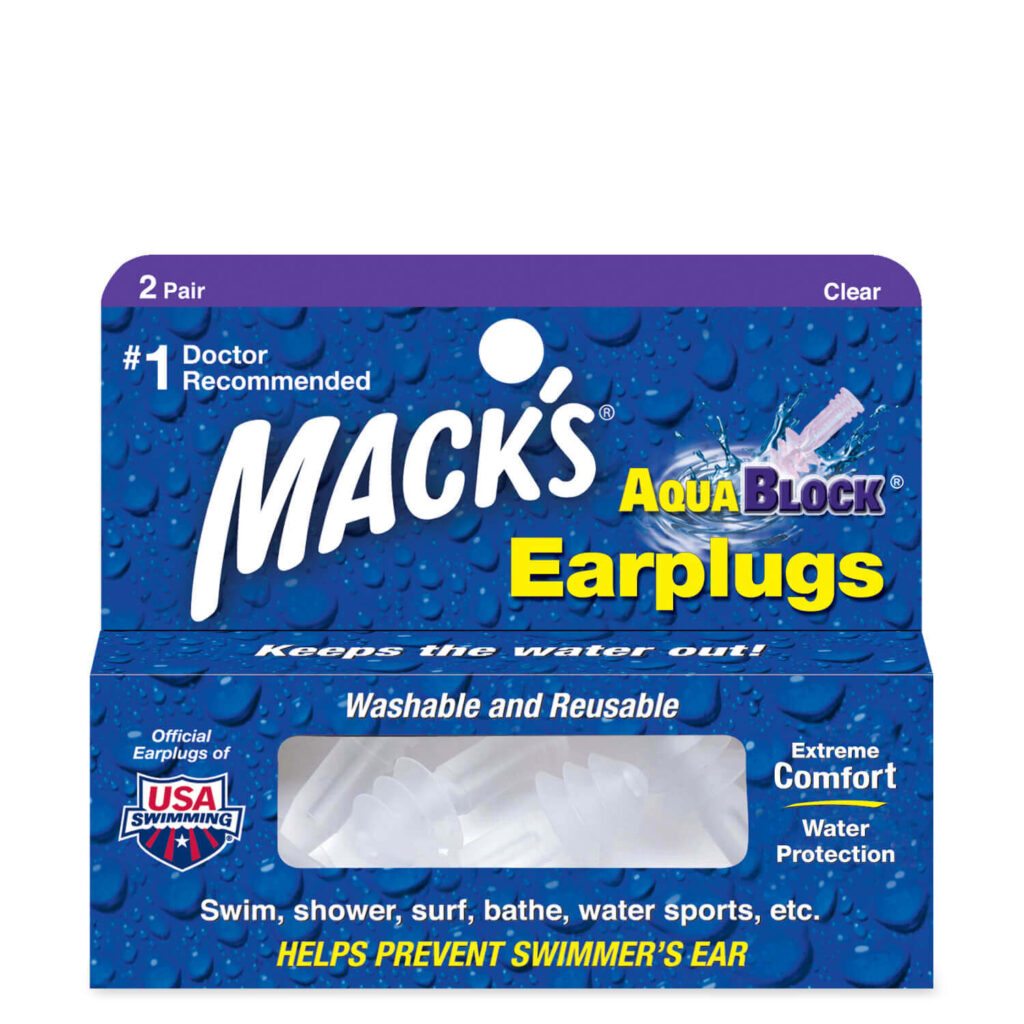 Mack's AquaBlock Swimming Earplugs