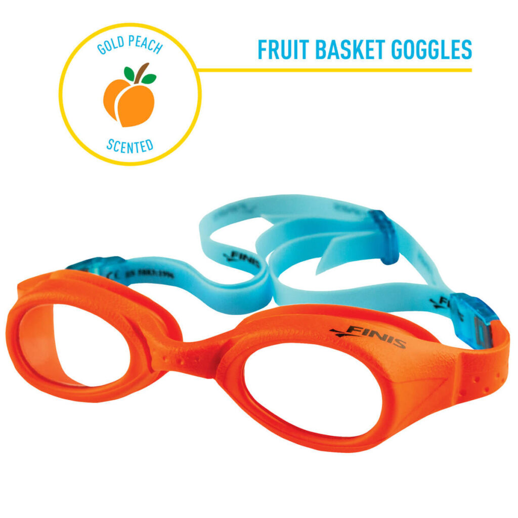 Best Kid's Recreation Swim Goggles: Finis Fruit Basket Peach