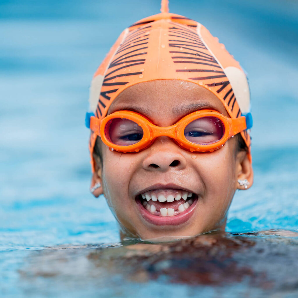 Best Kid's Recreation Swim Goggles: Finis Fruit Basket Orange