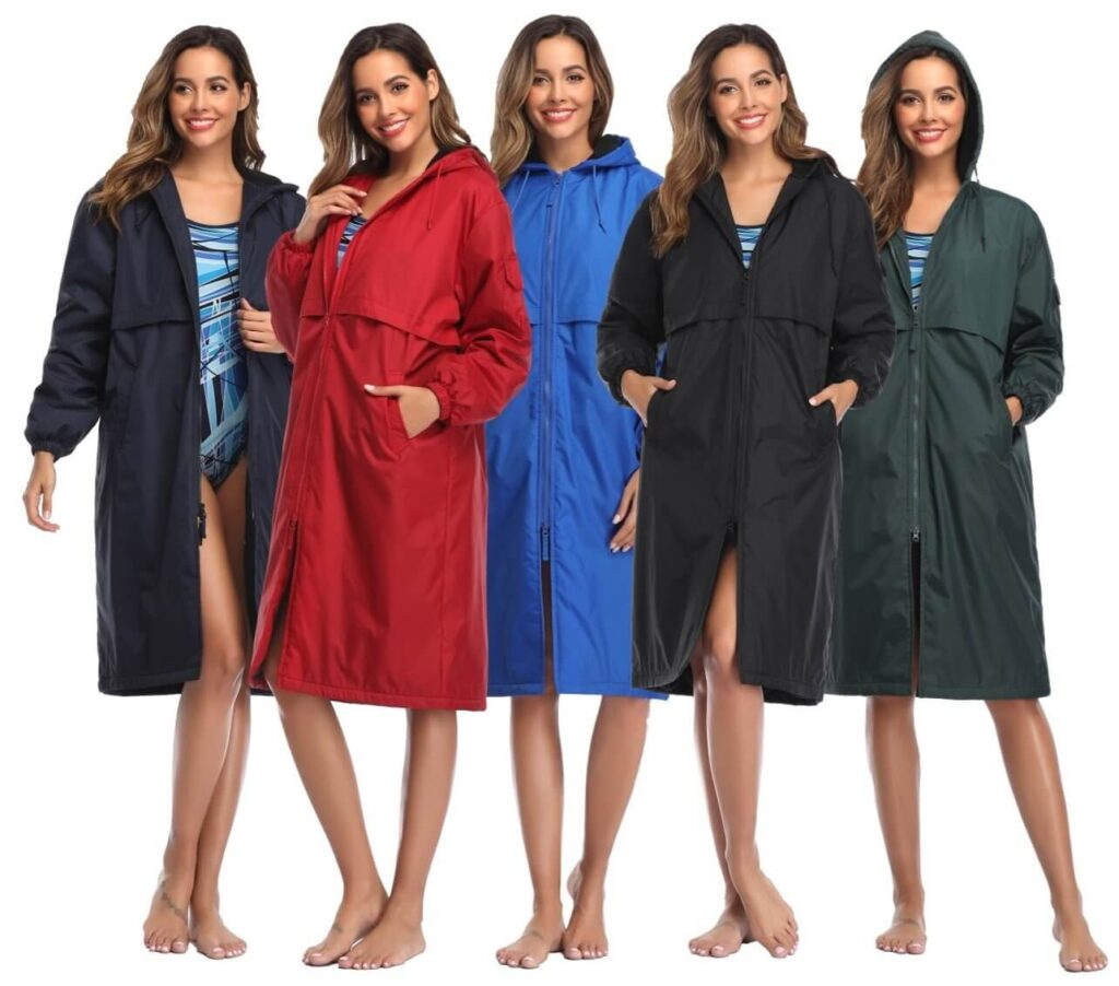Best Budget Parka for Swimmers: Adoretex Fleece Swimming Parka colors