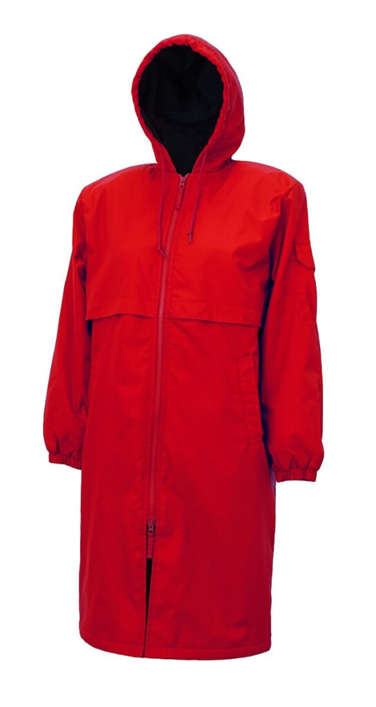 Best Budget Parka for Swimmers: Adoretex Fleece Swimming Parka red