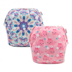 Best Budget Diaper for Swimming: Alvababy Swim Diaper pink