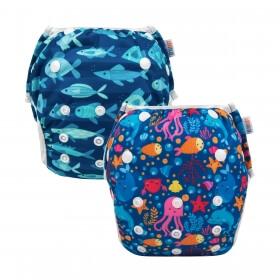 Best Budget Diaper for Swimming: Alvababy Swim Diaper blue