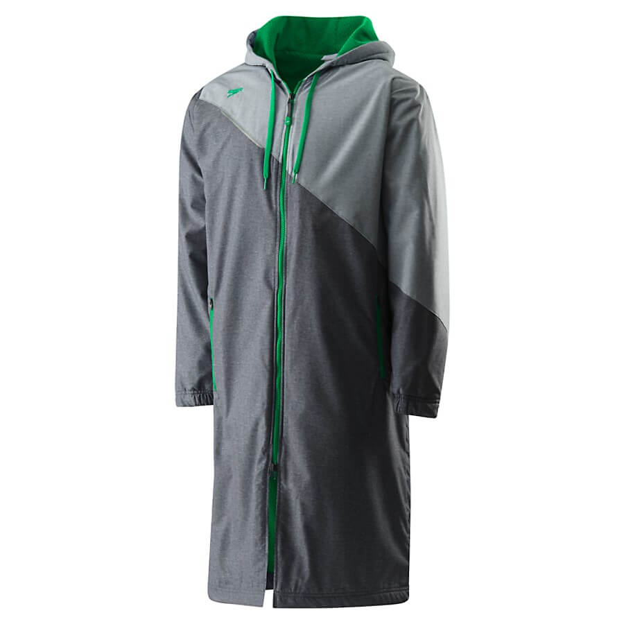 Best Overall Parka for Swimming: Speedo Team Parka grey and green