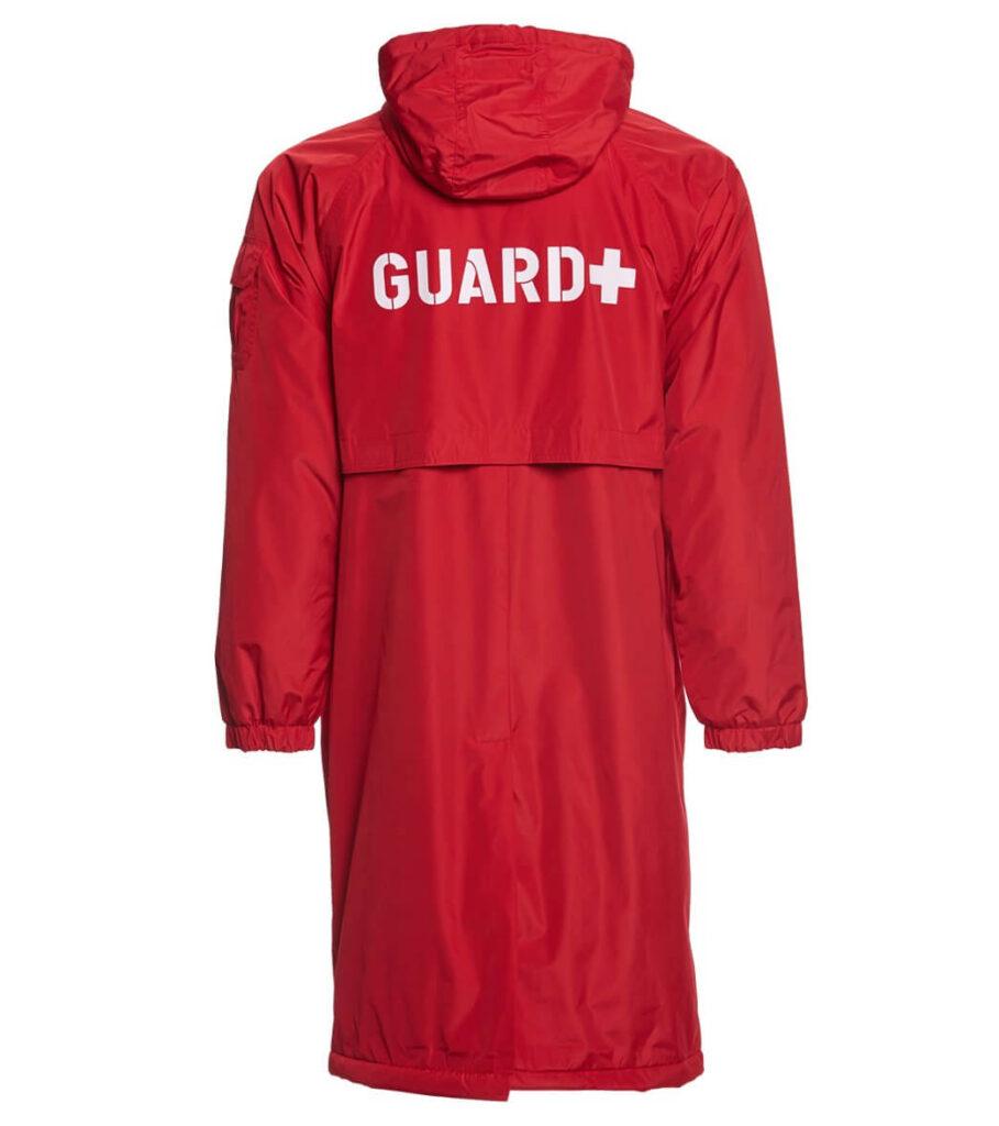 Best Lifeguard Parka for Swimmers: Sporti Guard Comfort Fleece-Lined Swim Parka red