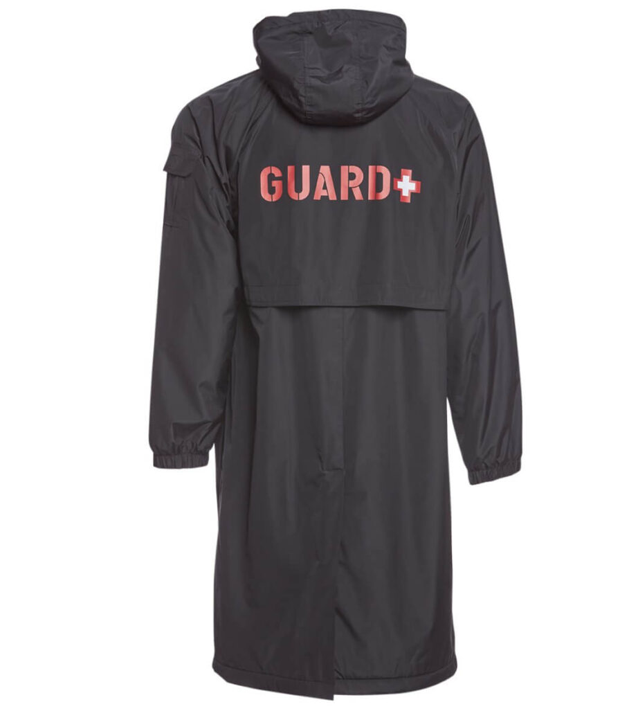 Best Lifeguard Parka for Swimmers: Sporti Guard Comfort Fleece-Lined Swim Parka black