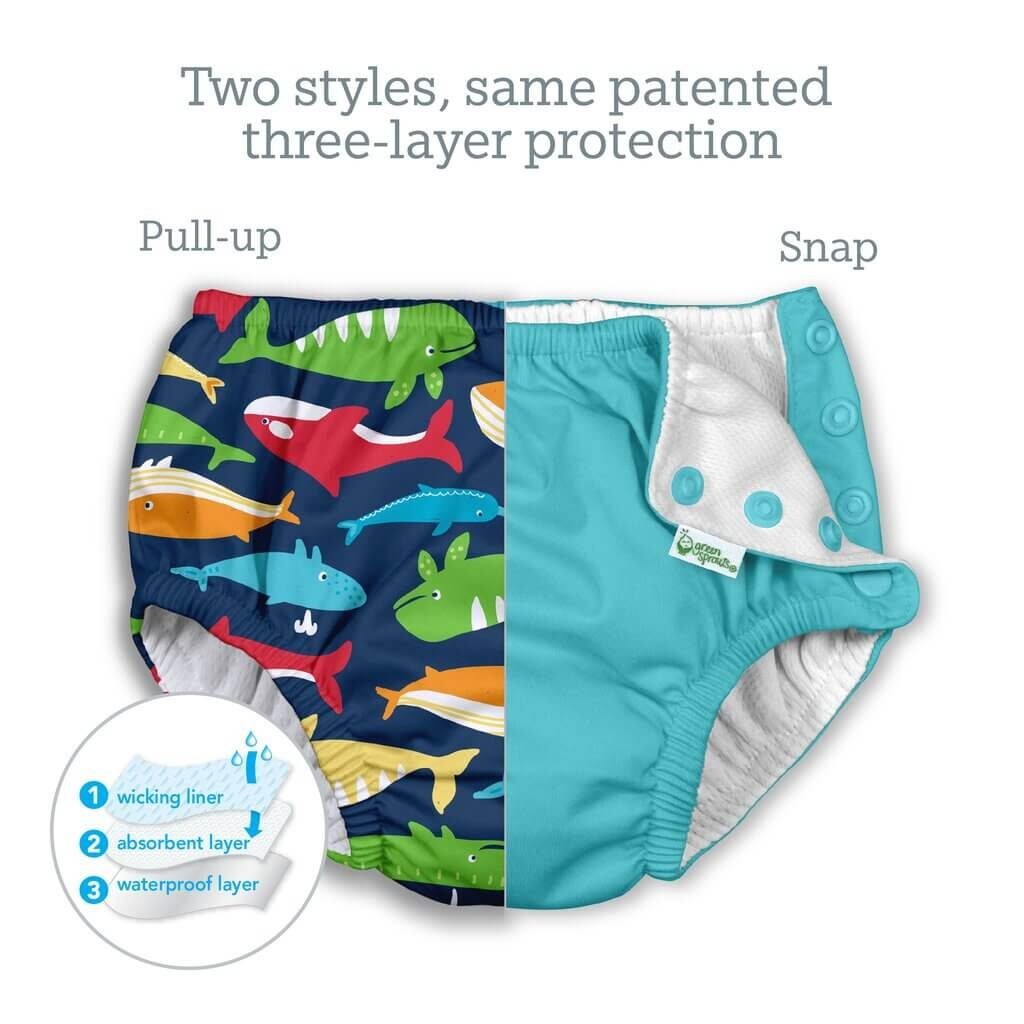 Best Reusable Swim Diaper: Green Sprouts i play. 3 layers