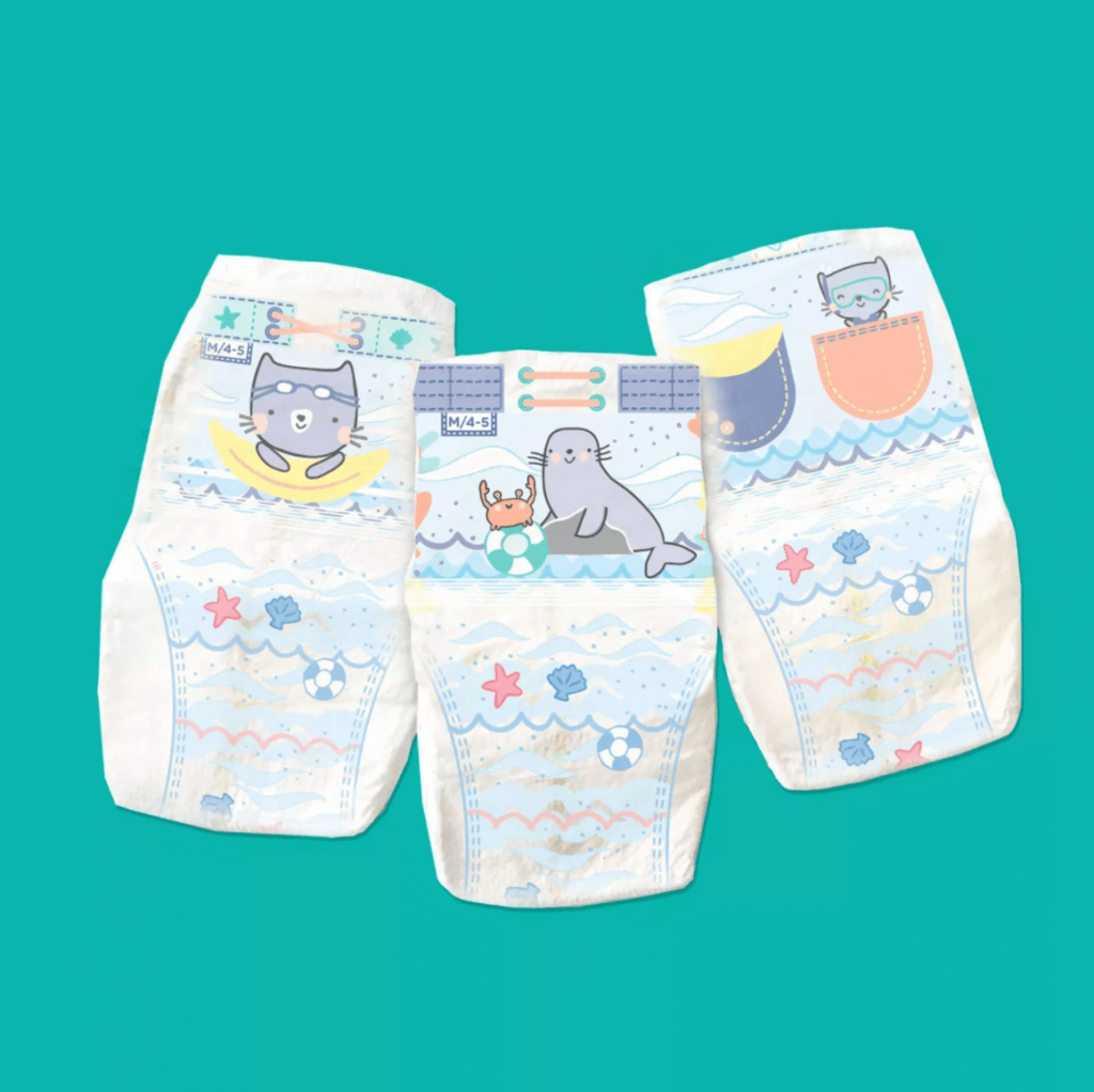 Best Disposable Diaper for Swimming: Pampers Splashers Disposable Swim Pants design