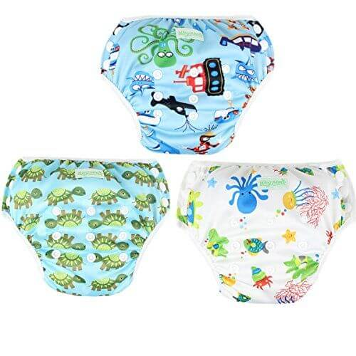 Best Looking Diaper for Swimming: Wegreeco Snap One Size Adjustable Reusable Baby Swim Diaper