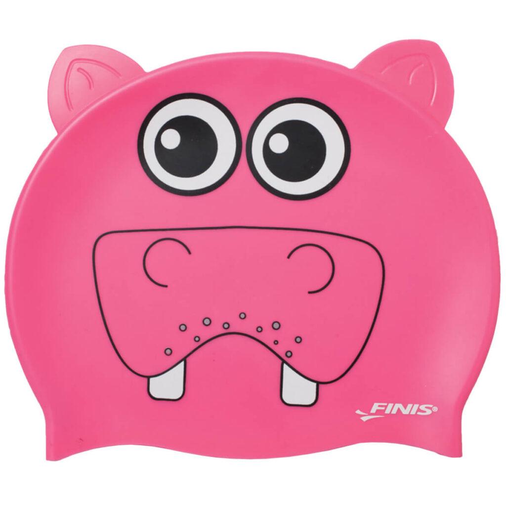 Best Kid's Swim Cap: Finis Animal Heads Cap Hippo
