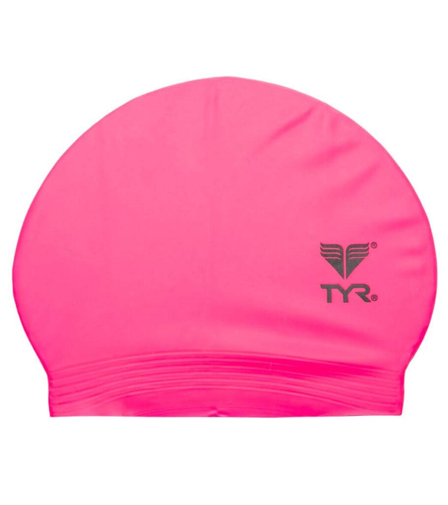 Best Budget Cap for Swimming: TYR Latex Swim Cap Pink