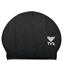 Best Budget Cap for Swimming: TYR Latex Swim Cap Black