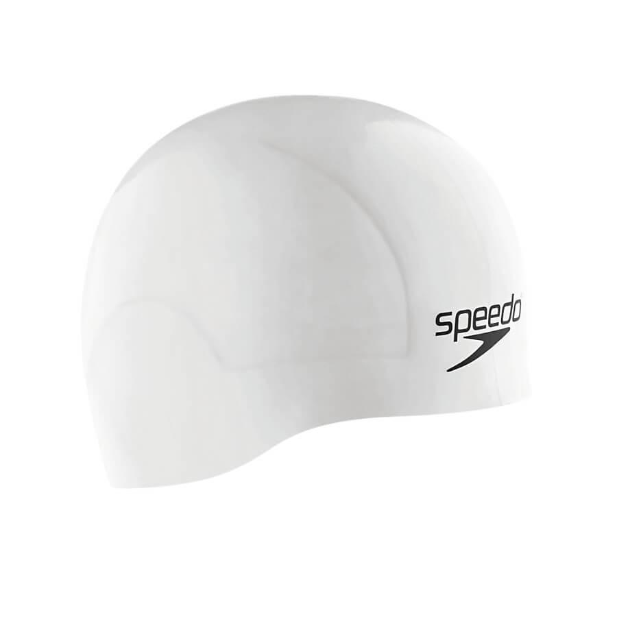 Best Competitive Swim Cap: Speedo Aqua V Silicone Swim Cap White