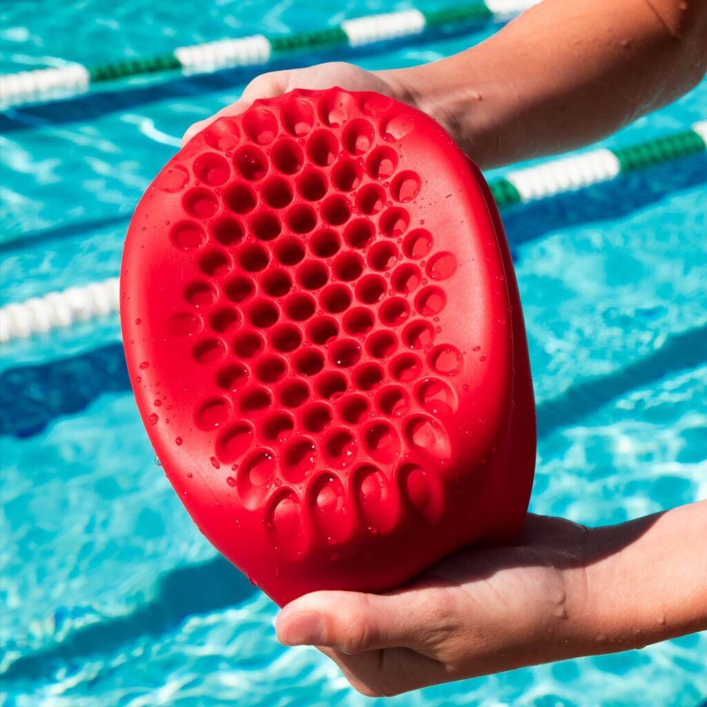 Best Safety Swim Cap: Hammer Head Swim Cap red