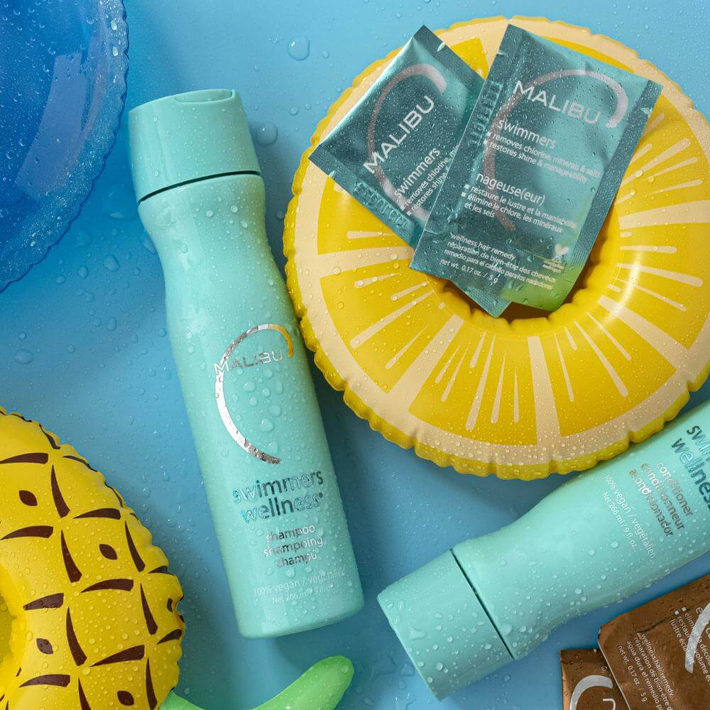 Best Chlorine Removing Shampoo with Kit: Malibu C Swimmers Wellness Collection