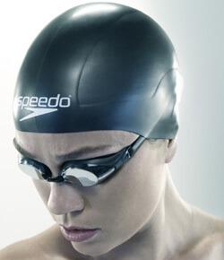 Best Competitive Swim Cap: Speedo Aqua V Silicone Swim Cap Black