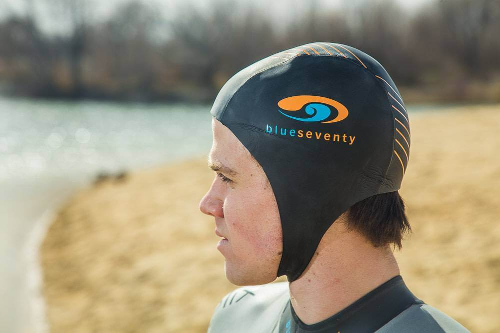 Best Warmth Cap for Swimming: Blueseventy Thermal Skull Cap side