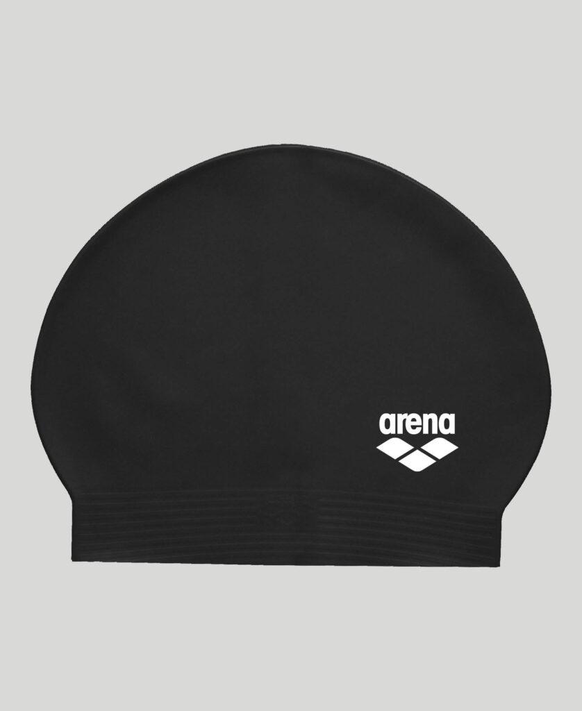 Best Lap Swimming Swim Cap: Arena Soft Latex Unisex Swim Cap Black